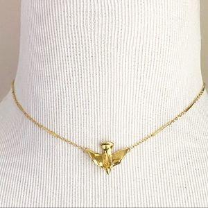 Dove Bird Choker Gold Tone Chain Hallmark Vintage